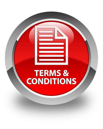 term and conditions: Terms and conditions (page icon) glossy red round button