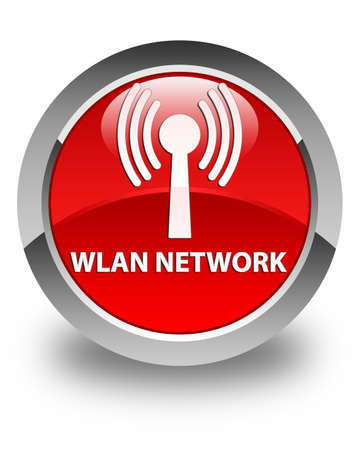wlan: Wlan network glossy red round button