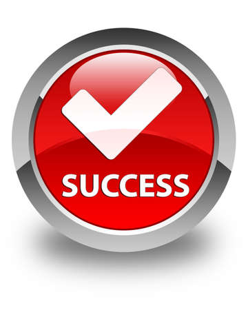 validate: Success (validate icon) glossy red round button