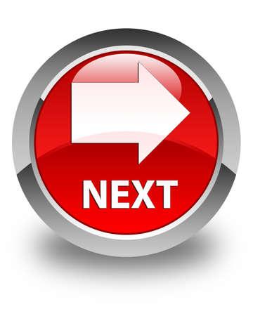 go forward: Next glossy red round button