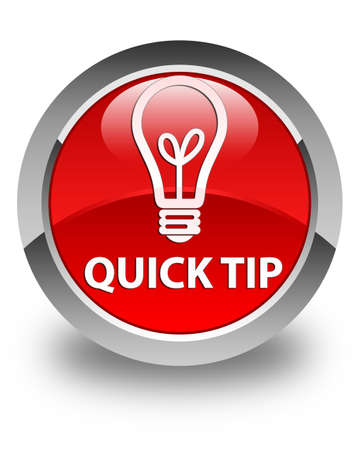 hints: Quick tip (bulb icon) glossy red round button
