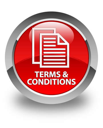 terms: Terms and conditions (pages icon) glossy red round button