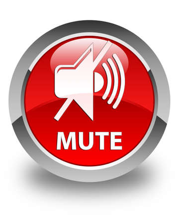 mute: Mute glossy red round button