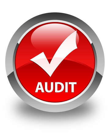 validate: Audit (validate icon) glossy red round button