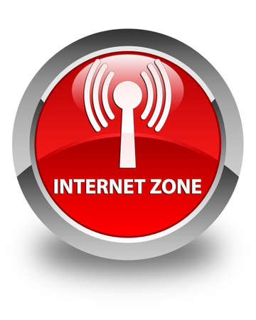 wlan: Internet zone (wlan network) glossy red round button