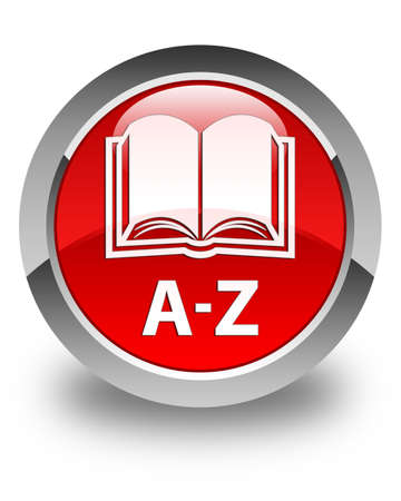 az: A-Z (book icon) glossy red round button