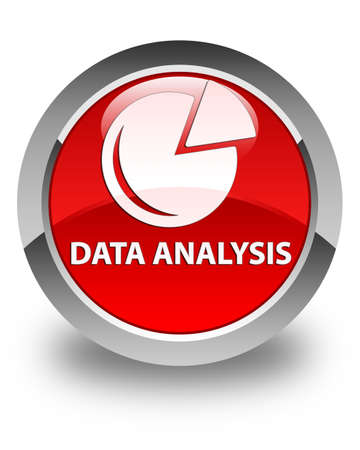 stat: Data analysis (graph icon) glossy red round button