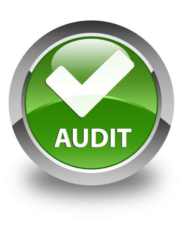 validate: Audit (validate icon) glossy soft green round button