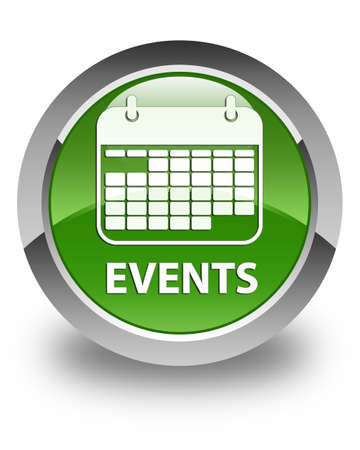 event planner: Events (calendar icon) glossy soft green round button