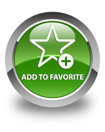 add button: Add to favorite glossy soft green round button
