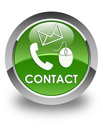 flysheet: Contact (phone, email and mouse icon) glossy soft green round button