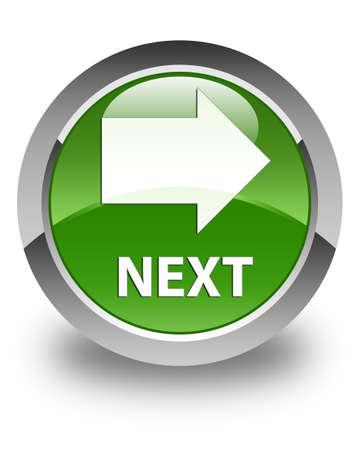 go forward: Next glossy soft green round button
