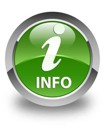 inquiry: Info glossy soft green round button