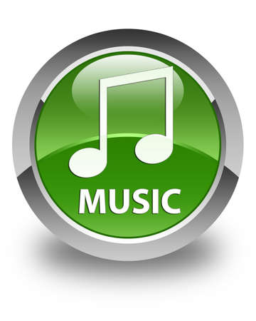 tune: Music (tune icon) glossy soft green round button