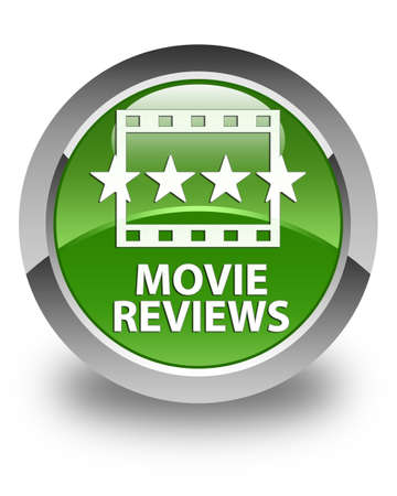 ratings: Movie reviews glossy soft green round button