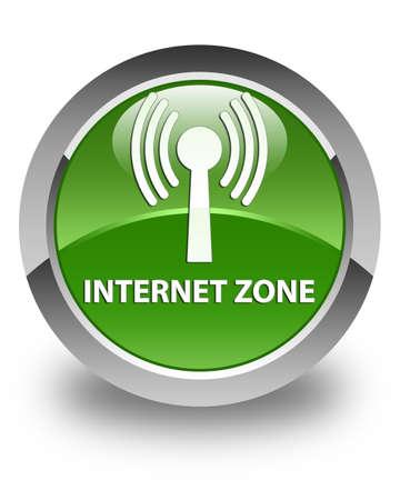 wlan: Internet zone (wlan network) glossy soft green round button
