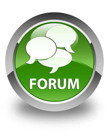 comments: Forum (comments icon) glossy soft green round button