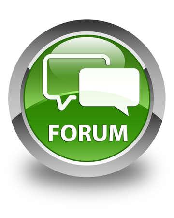 menace: Forum glossy soft green round button Stock Photo