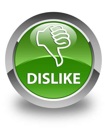 disapprove: Dislike glossy soft green round button Stock Photo