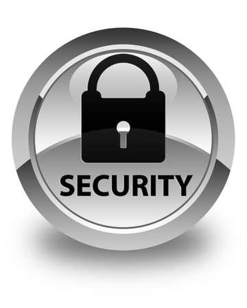 key hole shape: Security (padlock icon) glossy white round button