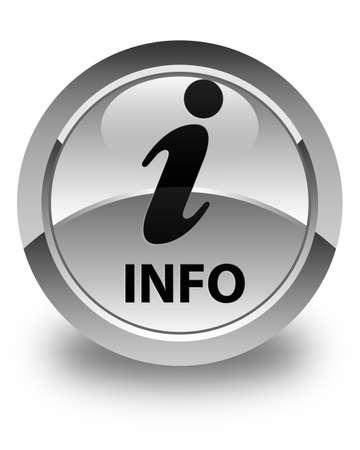 inform information: Info glossy white round button Stock Photo
