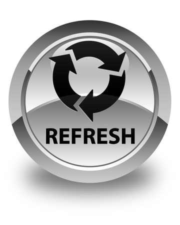 refresh button: Refresh glossy white round button