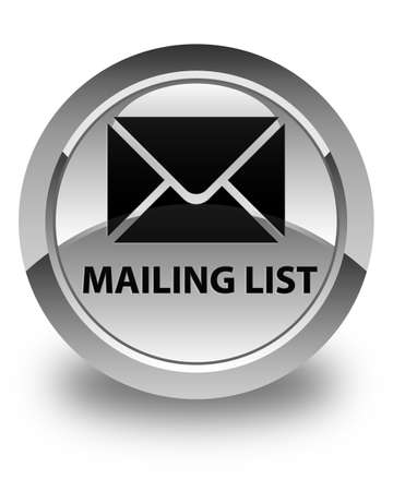 mailing: Mailing list glossy white round button Stock Photo