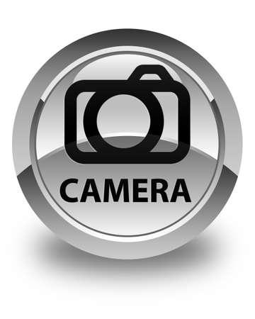 digital slr: Camera glossy white round button