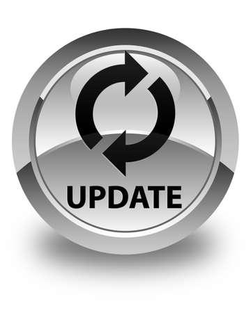 update: Update glossy white round button