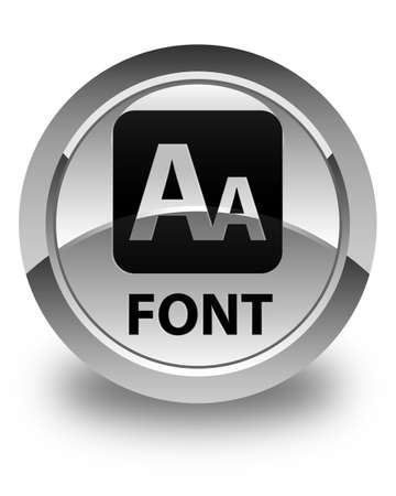 glossy: Font glossy white round button
