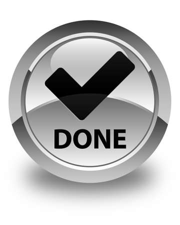 allow: Done (validate icon) glossy white round button