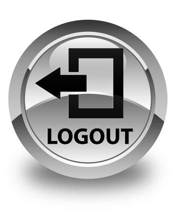 end user: Logout glossy white round button