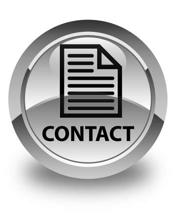 contact page: Contact (page icon) glossy white round button