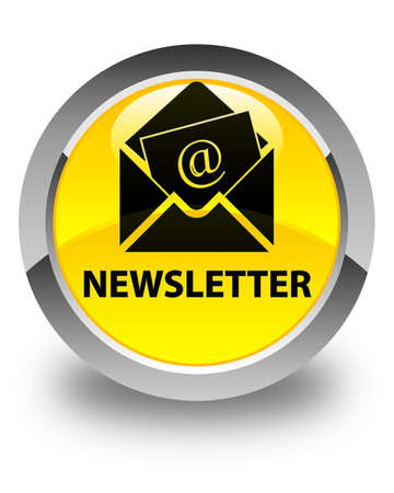 article marketing: Newsletter glossy yellow round button