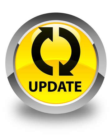 update: Update glossy yellow round button