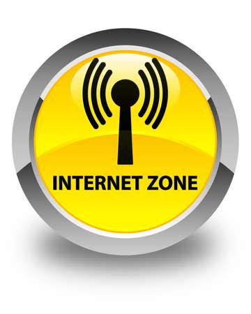 wlan: Internet zone (wlan network) glossy yellow round button