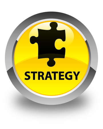 plugin: Strategy (puzzle icon) glossy yellow round button