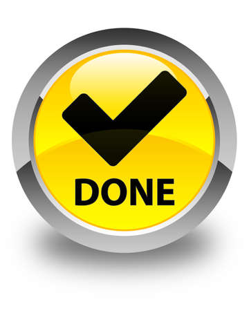 validate: Done (validate icon) glossy yellow round button