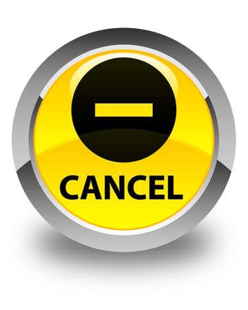 terminate: Cancel glossy yellow round button