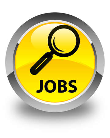 jobs: Jobs glossy yellow round button