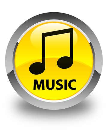 tune: Music (tune icon) glossy yellow round button