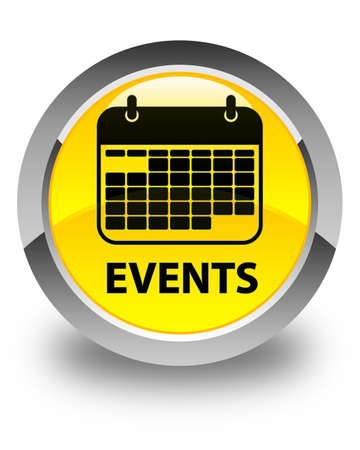 current events: Events (calendar icon) glossy yellow round button