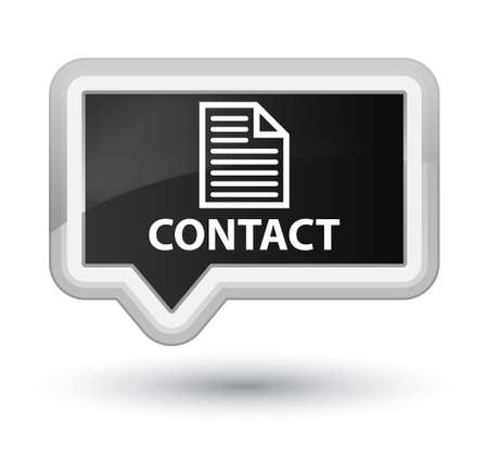 contact page: Contact (page icon) black banner button