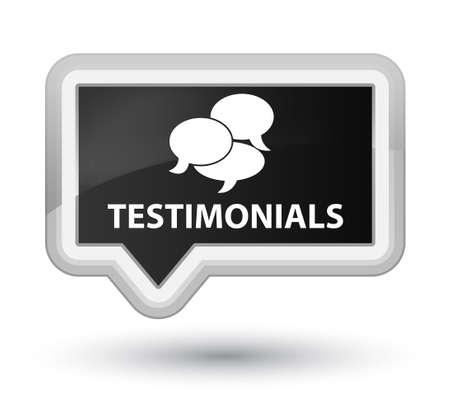 authenticate: Testimonials (comments icon) black banner button