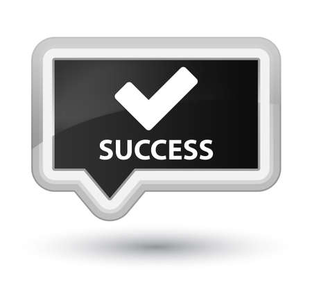 validate: Success (validate icon) black banner button Stock Photo