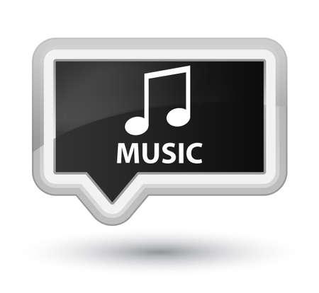 tune: Music (tune icon) black banner button