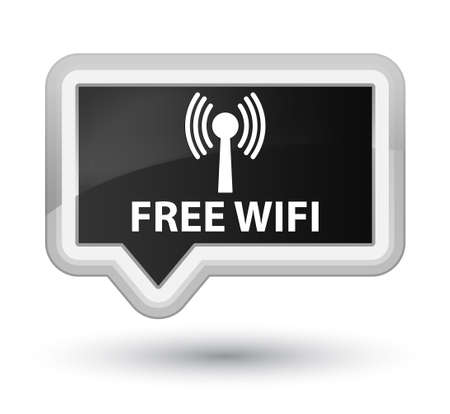 wlan: Free wifi (wlan network) black banner button
