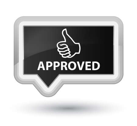 valid: Approved (thumbs up icon) black banner button