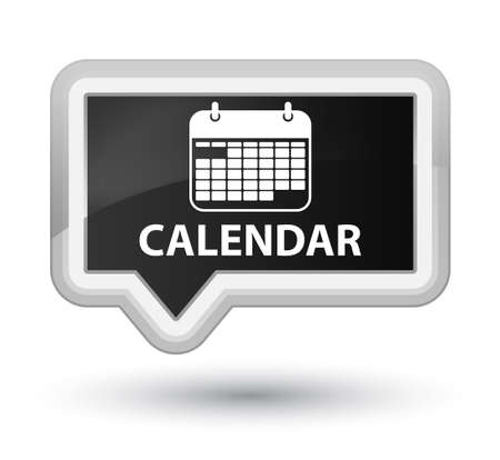 appointments: Calendar black banner button Stock Photo