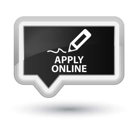 apply: Apply online (edit pen icon) black banner button